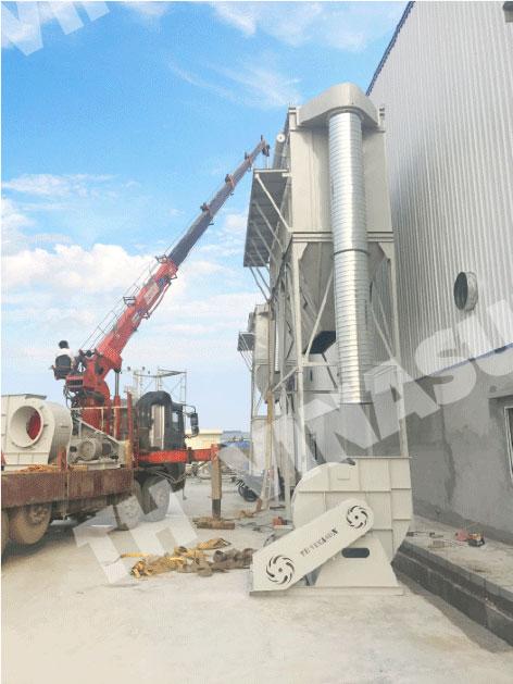 Lắp đặt hệ thống hút bụi gỗ 55kW