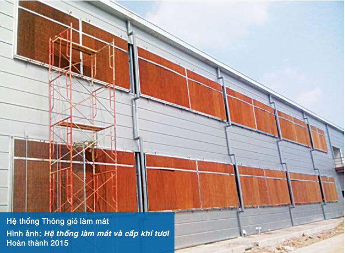 Hệ thống làm mát nhà xưởng bằng tấm Cooling Pad - Cty Toresco