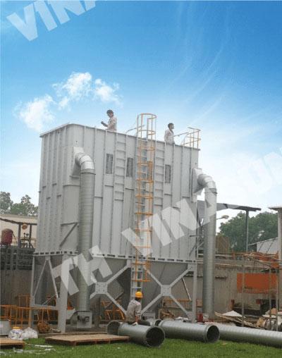 Lắp đặt bộ lọc cho hệ thống hút và xử lý bụi TH Vinasun triển khai