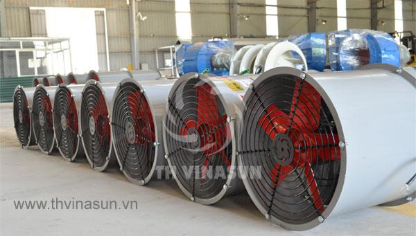 Sản xuất quạt thông gió nhà xưởng thân tròn