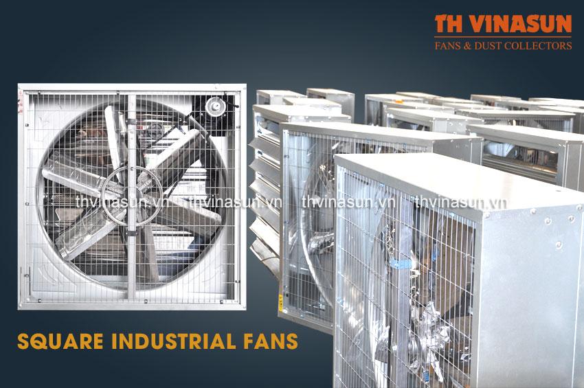 quạt công nghiệp, quạt vuông công nghiệp, quạt thông gió công nghiệp, quạt thông gió, quạt thông gió nhà xưởng
