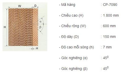 Thông số tấm Cooling Pad