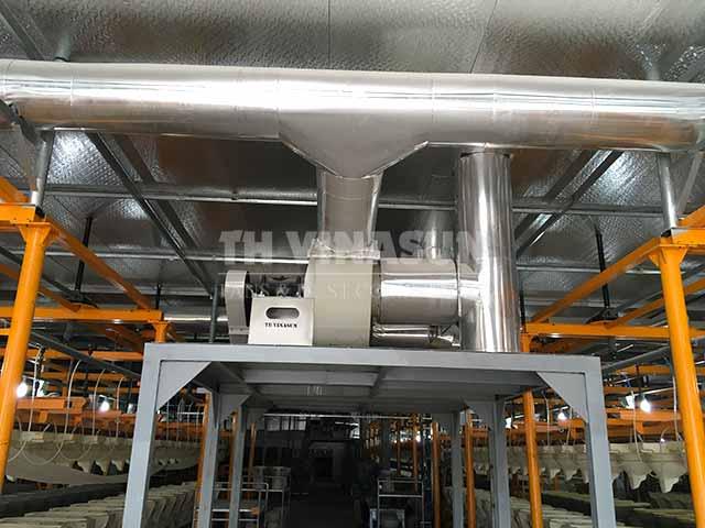 hệ thống hút bụi nhà máy gạch