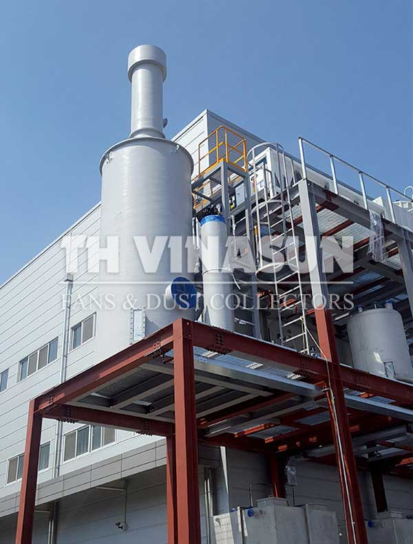 lọc khí thải bằng than hoat tính