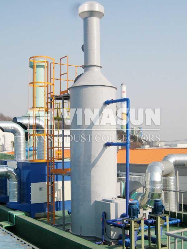 tháp lọc khí thải