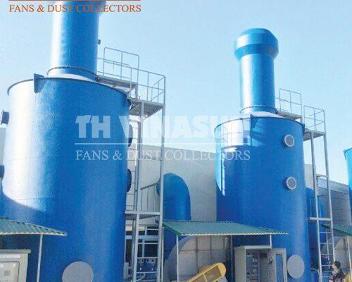 Xử lý khí thải bằng tháp hấp thụ