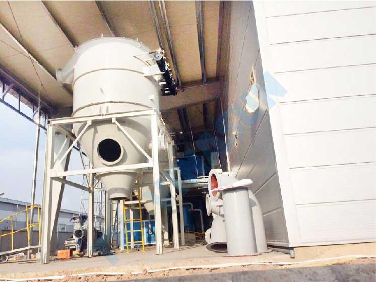 hệ thống hút lọc bụi nhà máy bông sợi