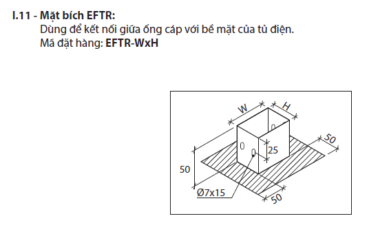 Mặt bích EFTR