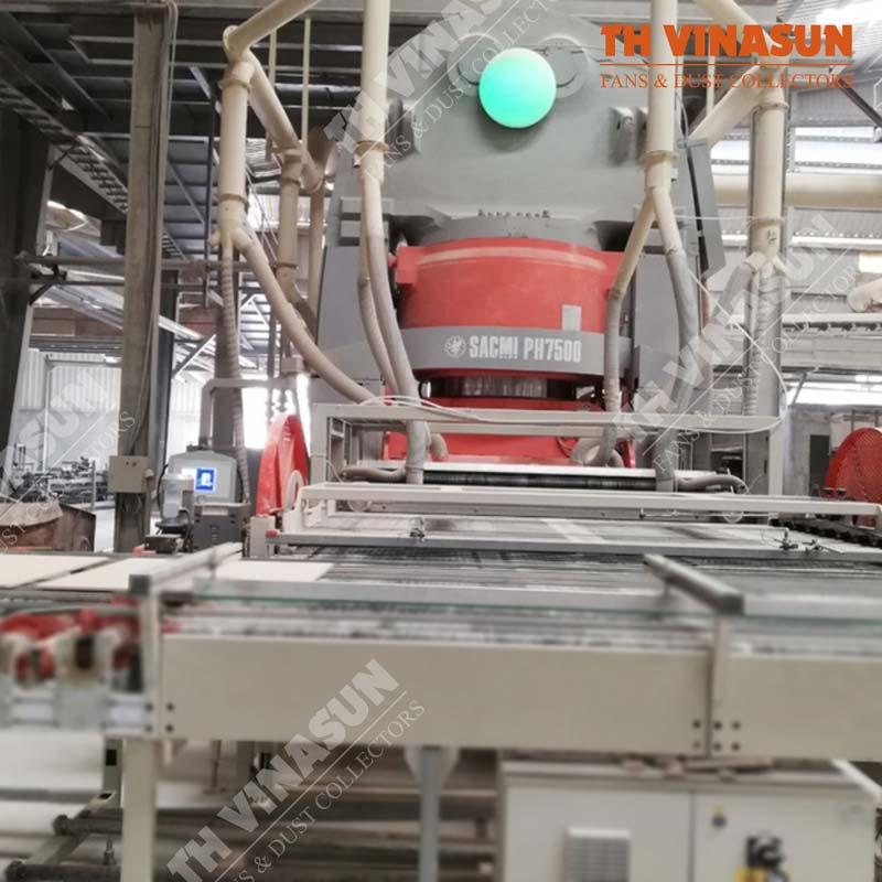 xử lý bụi và thông gió nhà máy gốm sứ