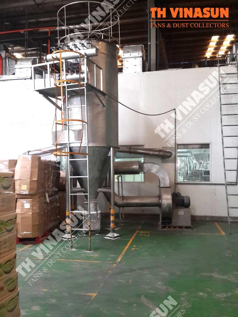 xử lý bụi nhà máy thực phẩm