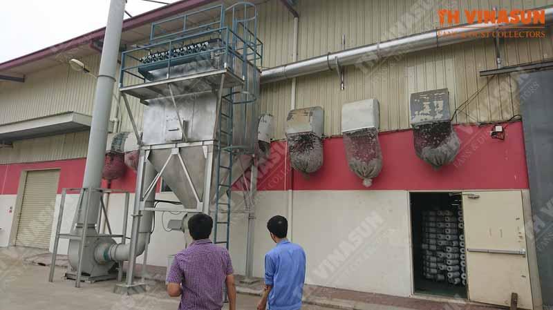 xử lý bụi nhà máy đá hải dương