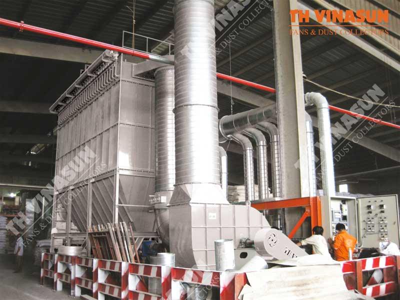 xử lý bụi nhà máy thức ăn chăn nuôi proconco