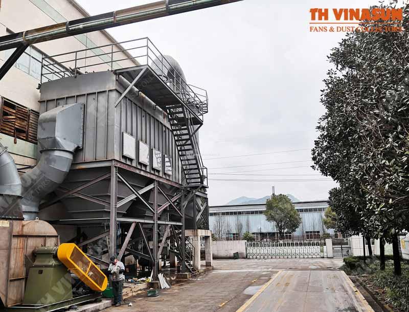 xử lý bụi nhà máy tôn Hoa Sen