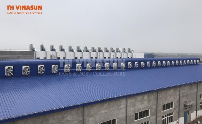 Lắp đặt hệ thống quạt thông gió để làm mát nhà xưởng