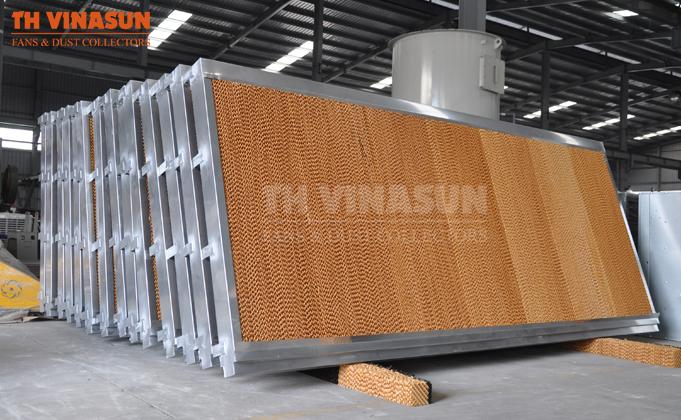 Sử dụng tấm cooling pad để làm mát nhà xưởng