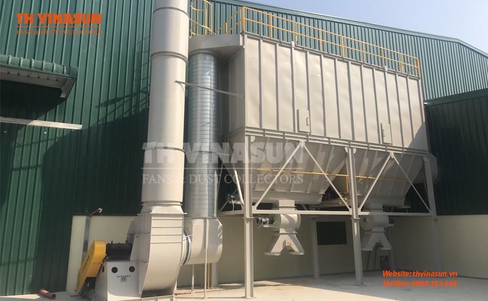 Hệ thống hút bụi xưởng gỗ của TH VINASUN