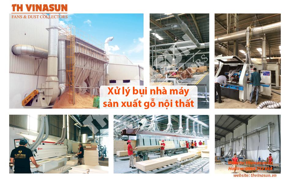 Xử lý bụi nhà máy sản xuất gỗ