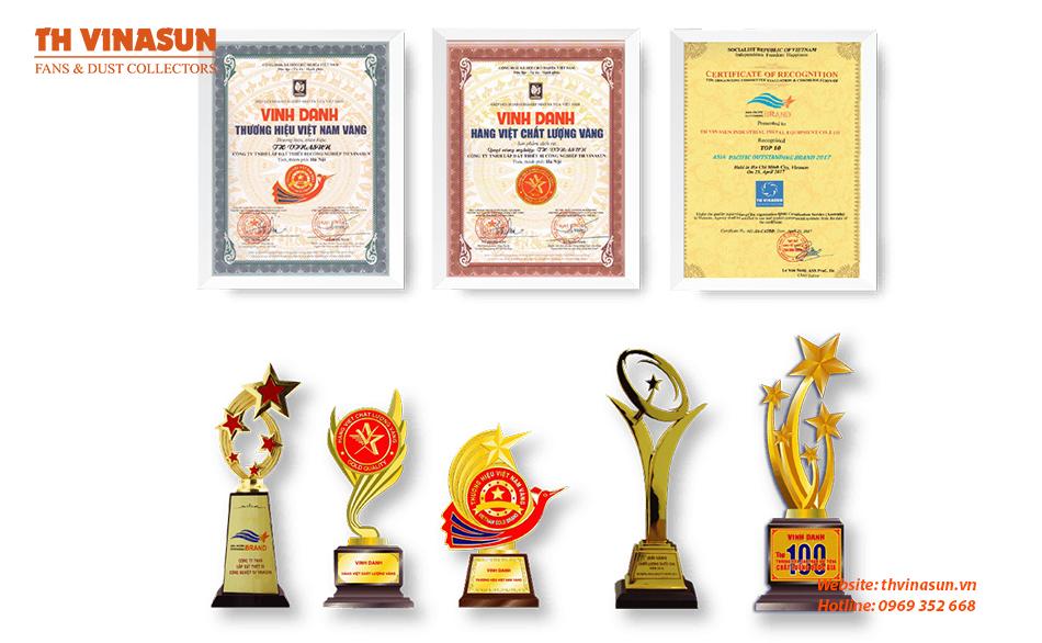 Chứng nhận giải thưởng của Th Vinasun