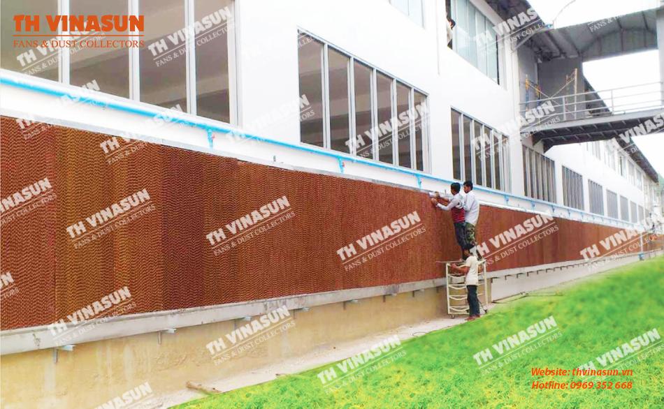 Hệ thống làm mát bằng tấm cooling pad của Th Vinasun