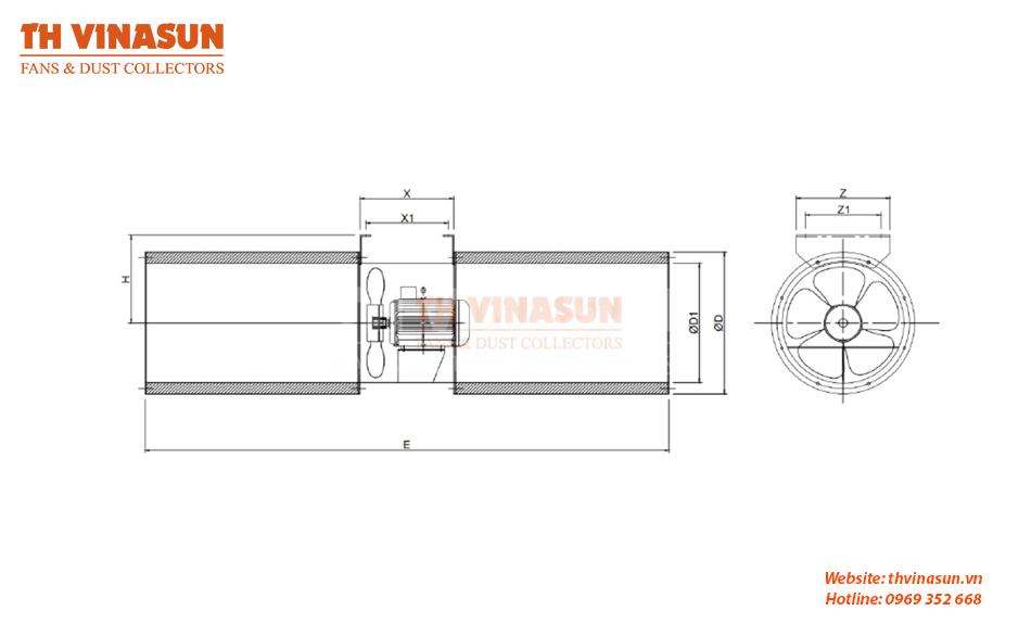 bản vẽ kỹ thuật quạt jetfan