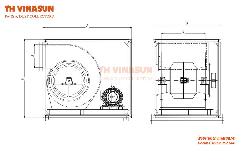 Bản vẽ kỹ thuật quạt cabinet VNS-CF1S