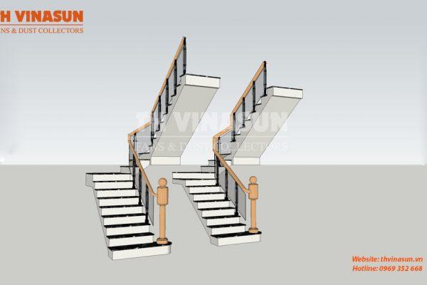 quạt tăng áp cầu thang bộ